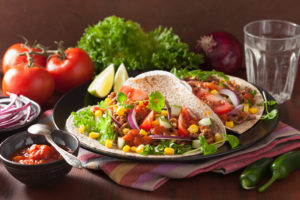 healthy tacos with beef or bison